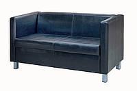 Двухместный диван Премьера Канзас 2 1440х680х770 мм Черный (hub_xprI07350)