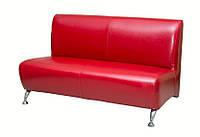 Двухместный диван Премьера Метро 2 1310х760х750 мм Красный (hub_mSwA62936), фото 1