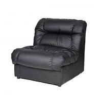 Модульный одноместный диван Премьера Плаза 1 820х950х890 мм Черный (hub_TxwQ36746)