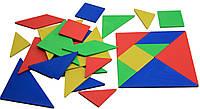 Набор Танграм WISSNER 10х10 см 28 частей Разноцветный (hub_gDSK46695)