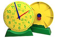 Демонстрационная модель механических часов WISSNER для учителя с подставкой 27 см Желтый (hub_tNQc80787)