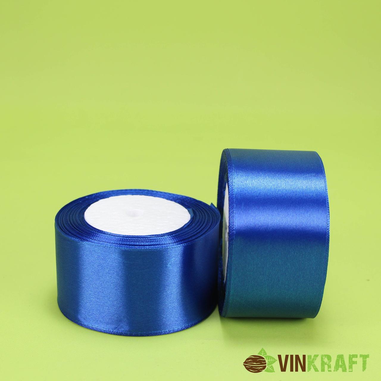 Стрічка атласна 50 мм (23м) електрик (синя)