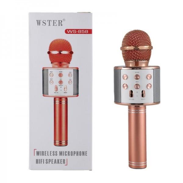Караоке мікрофон Wster WS 858 Персик (WS858персик)