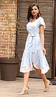 Платье Мода-Юрс-2564 белорусский трикотаж, голубой, 46