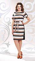 Платье Mira Fashion-4815 белорусский трикотаж, полоски, 50