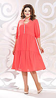 Платье Mira Fashion-4818 белорусский трикотаж, коралл, 50