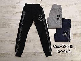 Штаны спортивные для девочек оптом, размеры 134-164 Seagull . арт. CSQ-52606