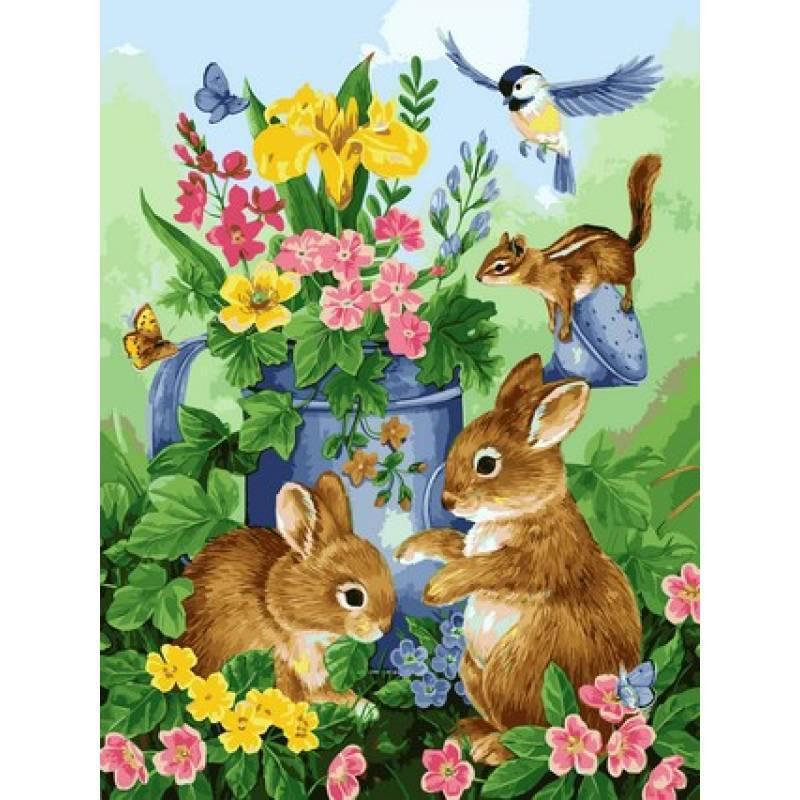 Картина по номерам Babylon VP626  Прикосновение весны. Худ. Джейн Мадай 40х50см рисование по  номерам Животные, рыбы, птицы