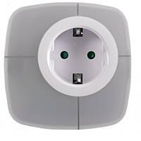 Светодиодный ночник с розеткой с переключаемыми цветами Luxel 0,6W