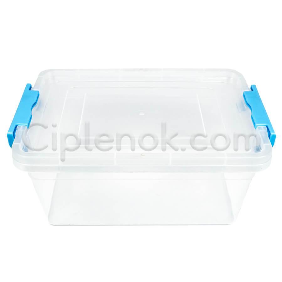 Пластиковый контейнер для продуктов прямоугольный 3 л на защелках