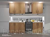 Готовий комплект кухні висота 2.0 м, низ 2.0 м з фасадами ЛДСП з мийкою врізною, фото 2
