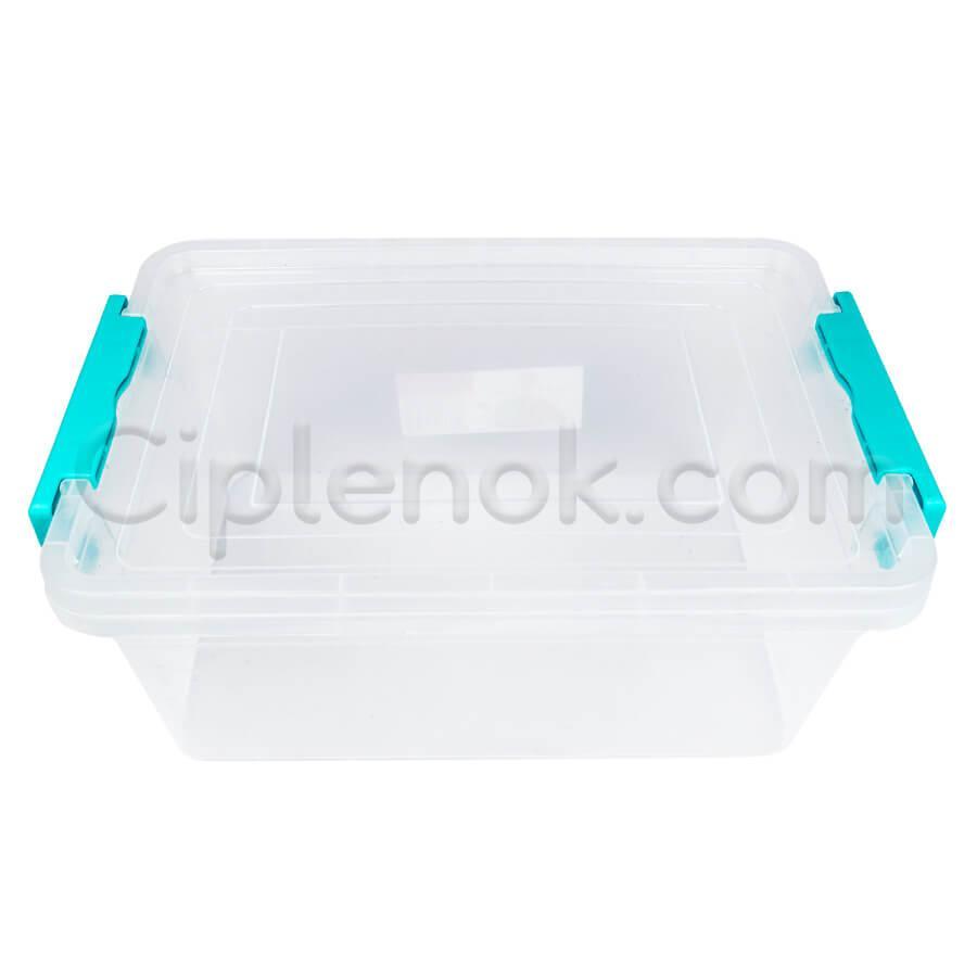Пластиковий контейнер для продуктів прямокутний 5 л на засувках