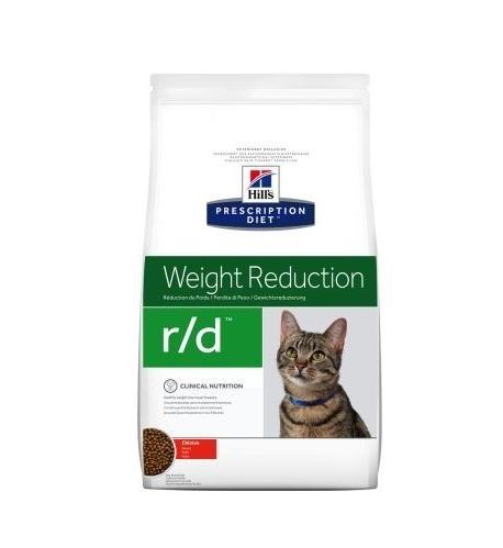 Хиллс Hills PD Feline R / D сбалансированный сухой корм для кошек при ожирении, для снижения веса, 1,5 кг