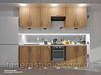 Готовий комплект кухні висота 2.6 м, низ 2.6 м з фасадами ЛДСП з мийкою врізною, фото 2