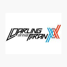 Стикеры Darling in the Franxx без порезки