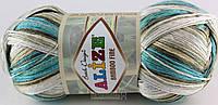 Пряжа Alize Bamboo Fine Batik 3254 (бамбу файн батик)