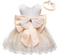 Нарядное  платье капучино принцессы до 2 лет Princess cappuccino elegant dress up to 2 years