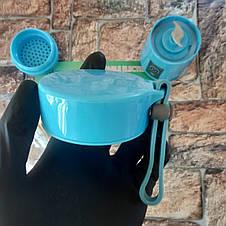 Блендер Smart Juice Cup Fruits 380мл синий (Реальные фото), фото 3
