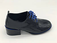 Туфли на каблуке Geronea черный 12019-10-10 лак 33(р)