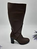 Сапоги зимние Anmex коричневый 7674 кожа 40(р)