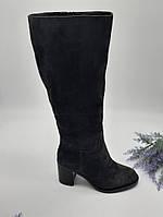 Сапоги зимние Glossi серый 1811-1506 замша 37(р)