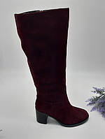 Сапоги зимние Glossi бордовый 1811-1507 замша 37(р)