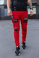 Мужские джинсы красные Mariano 1056, фото 1