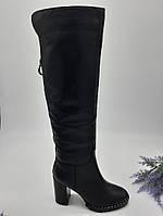 Сапоги зимние Glossi черный 1819-19-02 кожа 37(р)