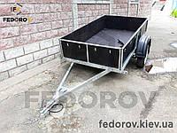 Прицеп легковой оцинкованный борта и дно 9 мм фанеры 1270х2150х400 - FEDOROV - прицепы и фаркопы Киев