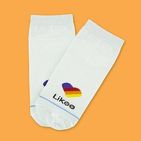 "Носки белые короткие с принтом ""Likee"""