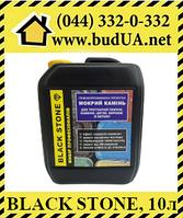 Black Stone с тонировочным эффектом - пропитка для тротуарной плитки, эффект мокрого камня, 10л