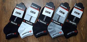 """Чоловічі короткі стрейчеві шкарпетки,сітка,""""Reebok CREW""""  41-45"""