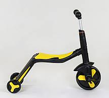 Самокат 3в1 JT 10993 (1) Best Scooter, самокат-велобег-велосипед, ЖЁЛТЫЙ, свет, 8 мелодий, колёса PU, переднее, фото 3