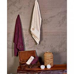 Набор полотенец Karaca Home - Fronda 2020-2  50*90+85*150 Фиолетовый
