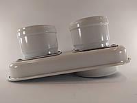 Перехід бінокль коаксіальний 60/100 на роздільний 80/80 турбо, фото 1