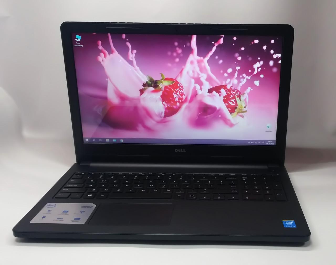"Ноутбук Dell Inspirion 3558 15.6"" Intel Core i3 2.0 GHz 4 GB RAM 500 GB HDD Black Б/У"