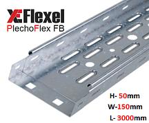 Лоток перфорированный, оцинкованный 150x50x3000x0,6 мм Plechoflex FB