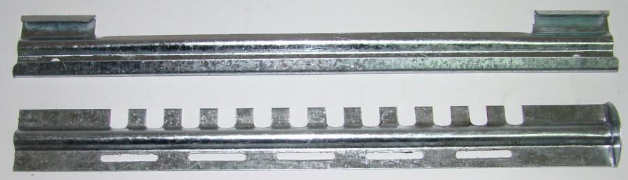 Летковый заградитель 2-х элементный, оцинкованный, с вент. отверствиями нижний, 250 мм