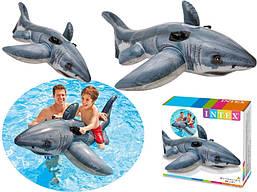 Детский надувной плотик Акула Intex 57525