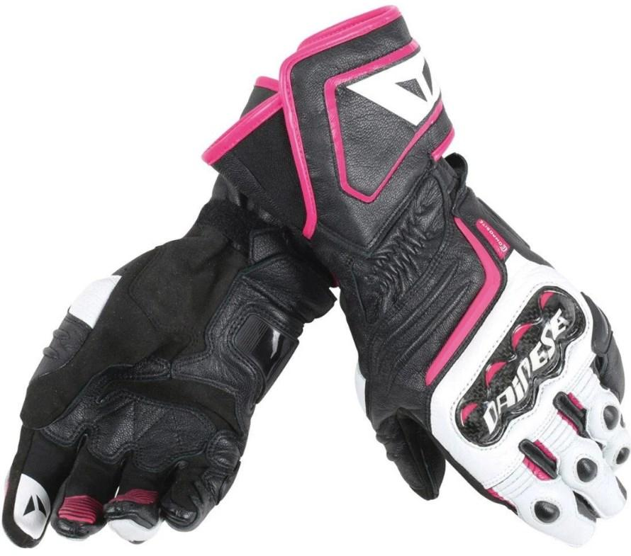 Мотоперчатки женские Dainese Carbon D1 Long Black/Pink