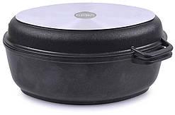 Гусятница Биол антипригарная с крышкой-сковородой 4 л Г401П