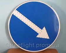 Світлодіодний дорожній знак «Об'їзд перешкоди» односторонній