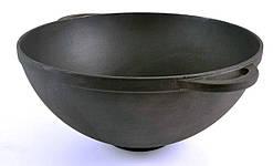 Сковорода чугунная ВОК с двумя литыми ушками без крышки Ситон СВ300
