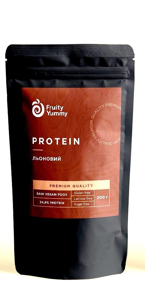Протеин растительный Льняной Premium, 200 г Fruity Yummy