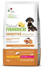 Корм Trainer (Трейнер) NATURAL Sensitive Puppy Junior Mini With Salmon для цуценят собак малих порід з чутливим травленням (лосось), 2 кг