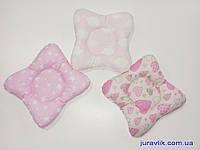 Ортопедическая подушка для новорожденных 25х25 Бабочка Детская подушка в детскую кроватку