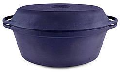 Гусятниця чавунна Сітон з чавунною кришкою-сковородою 5 л Г5ч