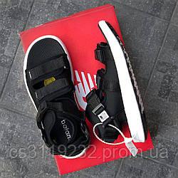 Мужские сандали New Balance Black Mesh/Textile Sandals (черные)
