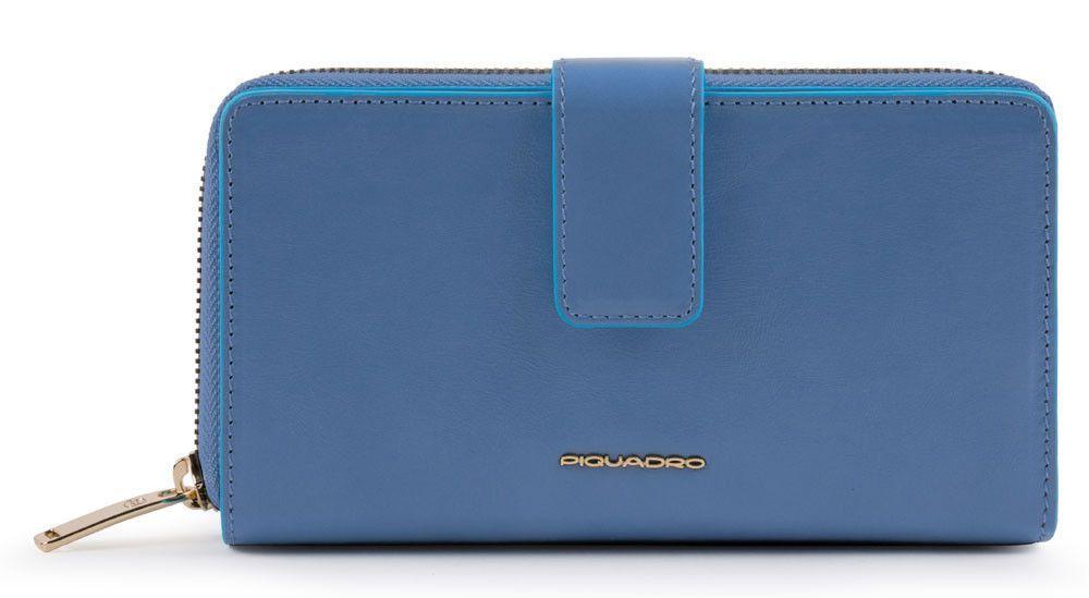 Кожаный кошелек Piquadro Bl Square, синий