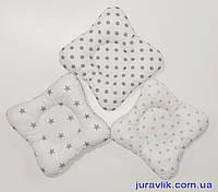 Детская подушка Ортопедическая подушка для новорожденных 25х25 Бабочка Подушка в детскую кроватку